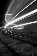 Tram Light trails