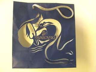 Swarovski shopping bag made over