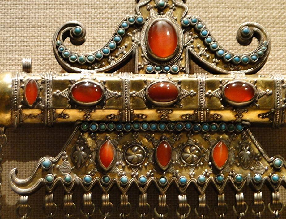 04 1j13_6265 triangular amulet holder Karakalpak Turkmen jewelry Metropolitan Museum ofArt