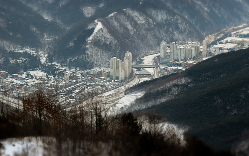 winter beautiful landscape outdoor korea daegu tiltshift apsan