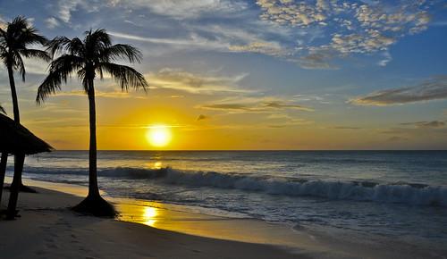 sunset beach sunrise aruba palmbeach caribbeansea bucuti eaglebeach lesserantilles dutchcaribbean bucutitarabeachresort bucutitara