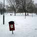 The top of Hilly Fields in the snow