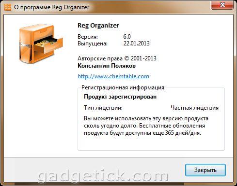 Reg Organizer 6.0