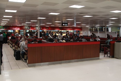 The only restaurants in the Doha International Airport departure terminal