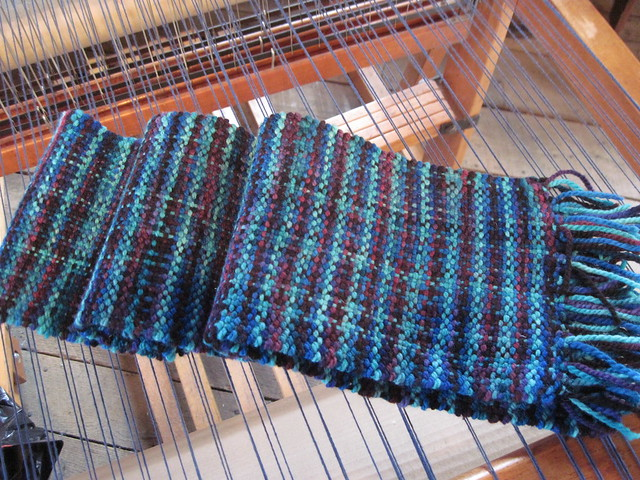 Handwoven Scarf - Mosaic Moon Fairy Princess on Cestari Fine Merino