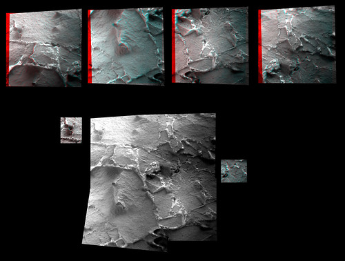 OPPORTUNITY sol 3200 Microscopic Imager anaglyph mosaic