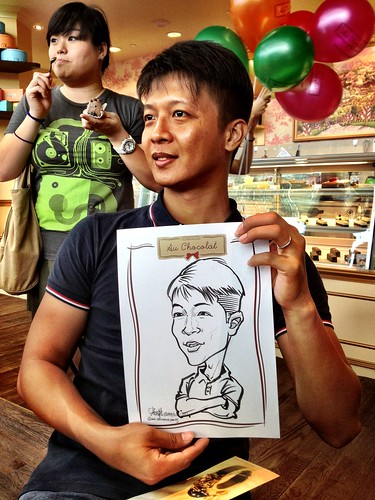 caricature live sketching for Au Chocolat Opening - Day 2 - 2