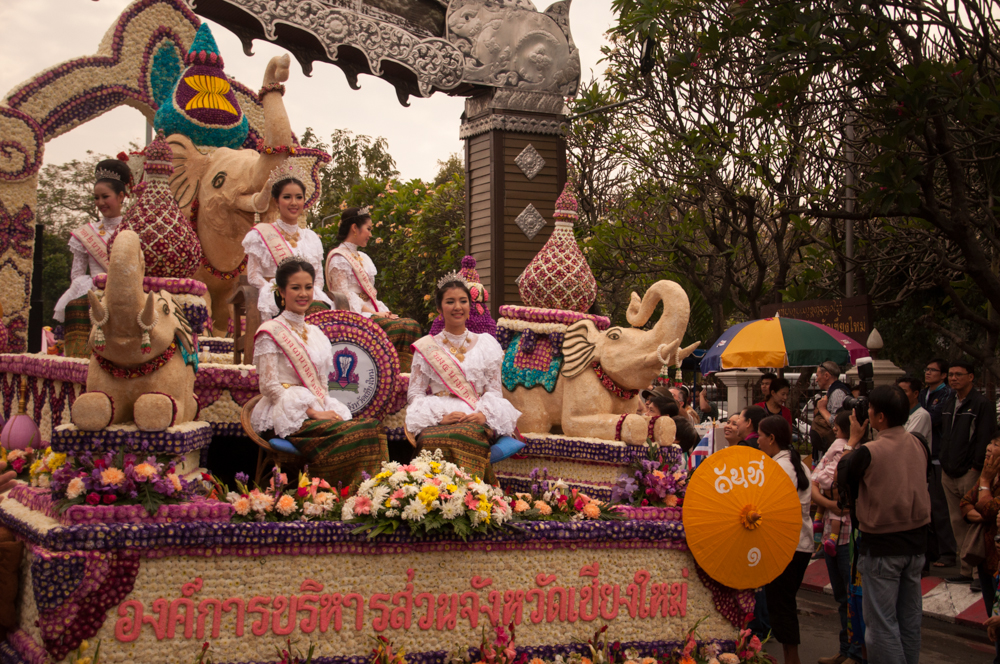 Floating By, Chiang Mai Flower Festival 2013