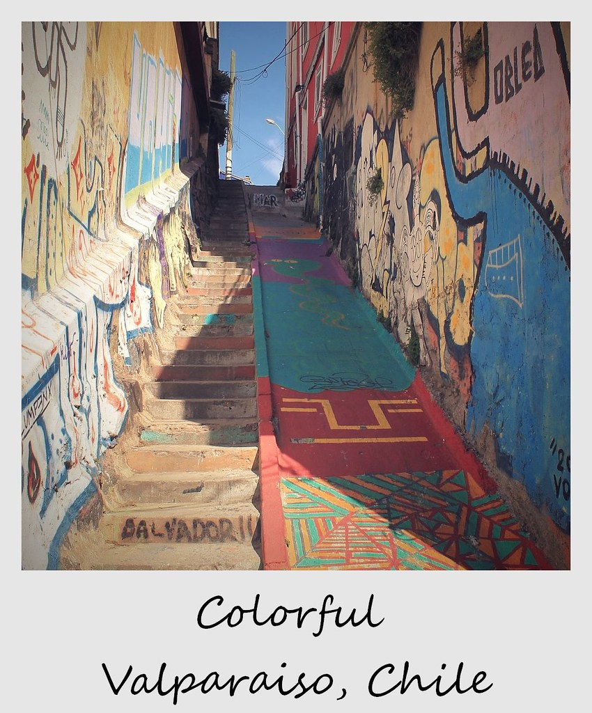 polaroid of the week chile valparaiso stairs