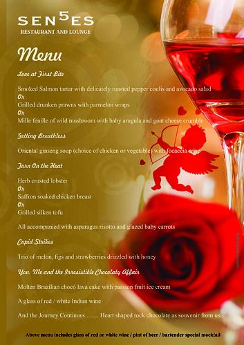 v'day 2013 Senses menu
