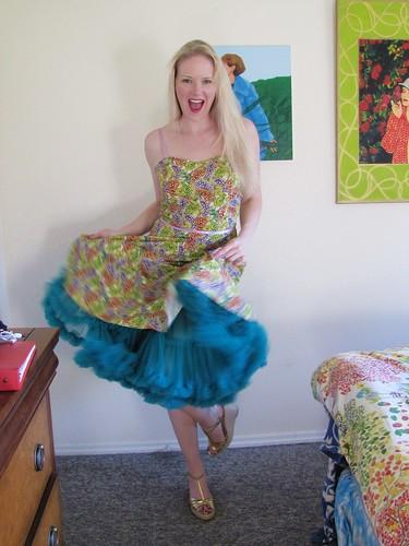 grapes dress and petticoat