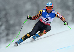 Jan Hudec was the top-placing Canadian in men's downhill at the 2013 world championships in Schladming, Austria. He finished ninth.