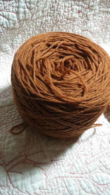 brown worsted weight wool