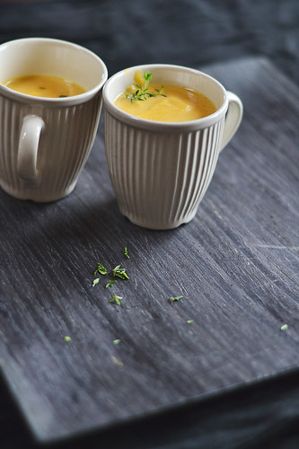 Pumpkin Soup with Pears and Vanilla Bean