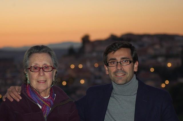 Con Bertha Gutmann en Toledo en Noviembre de 2012