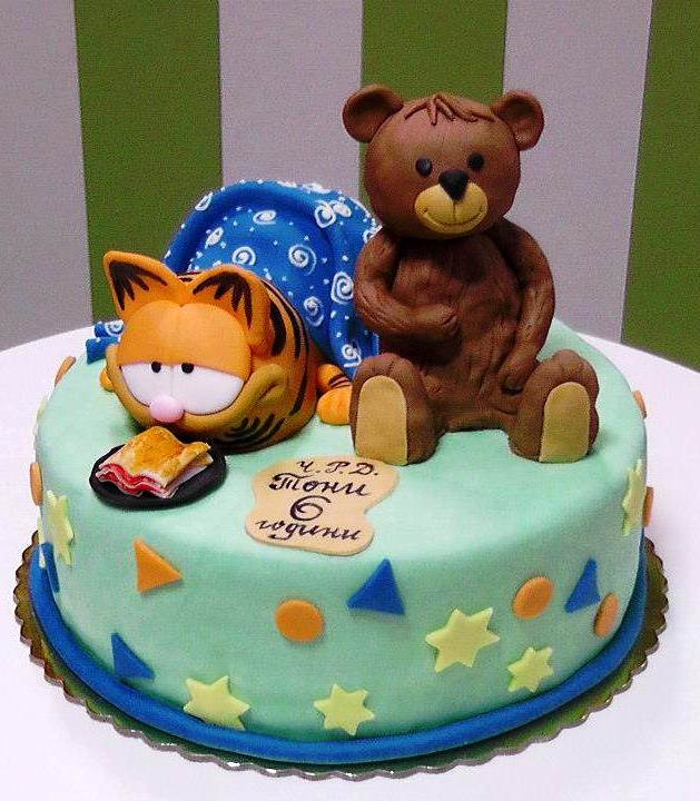 garfield cake - a photo on Flickriver
