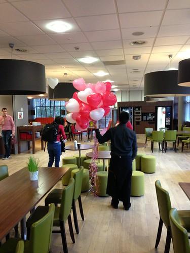 Heliumballonnen Hartballonnen Valentijnsdag Erasmus Universiteit Rotterdam