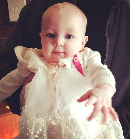 Guess who just got baptized...3rd generation in this dress.