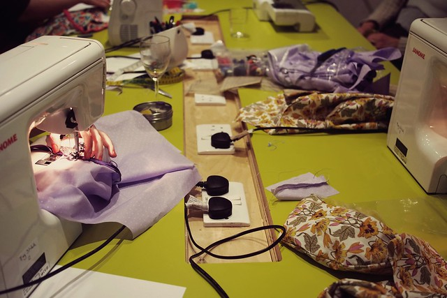 Sewing class at Ray Stitch