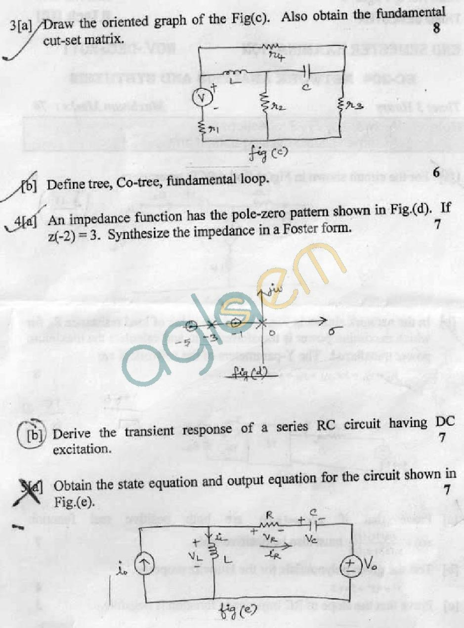 DTU Question Papers 2011 - 3 Semester - End Sem - EC-204