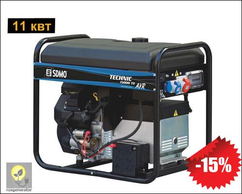 Портативный бензиновый генератор 11 квт, SDMO 15000TEXL