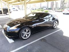 automobile(1.0), automotive exterior(1.0), wheel(1.0), vehicle(1.0), performance car(1.0), automotive design(1.0), nissan 370z(1.0), rim(1.0), nissan(1.0), bumper(1.0), land vehicle(1.0), luxury vehicle(1.0), coupã©(1.0), supercar(1.0), sports car(1.0),
