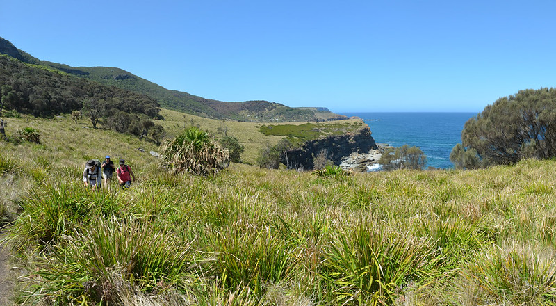 Much of the second day's walking is quite exposed - Royal National Park - NSW