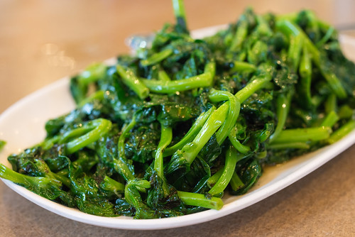 Sauteed Snow Pea Leaves - Sinh Sinh Restaurant