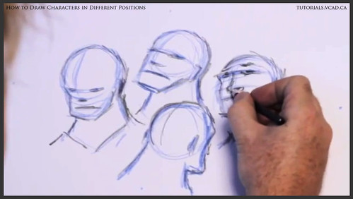 learn how to draw characters in different positions 012