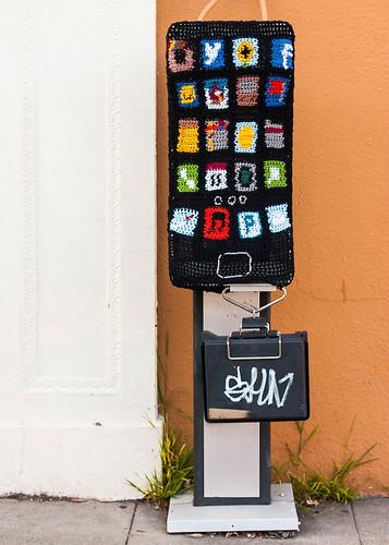 iPhone yarnbomb