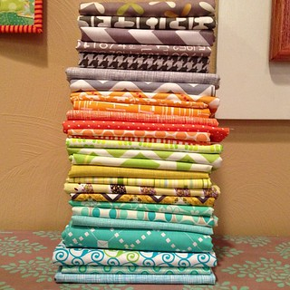 Shopping my stash for a new baby quilt! #quiltnon