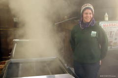 Sat 02.23.2013  2:36 pm - Becky Fahey of The Trustees of Reservations coordinates the Sugar Shack and was on-site to keep things running smoothly!