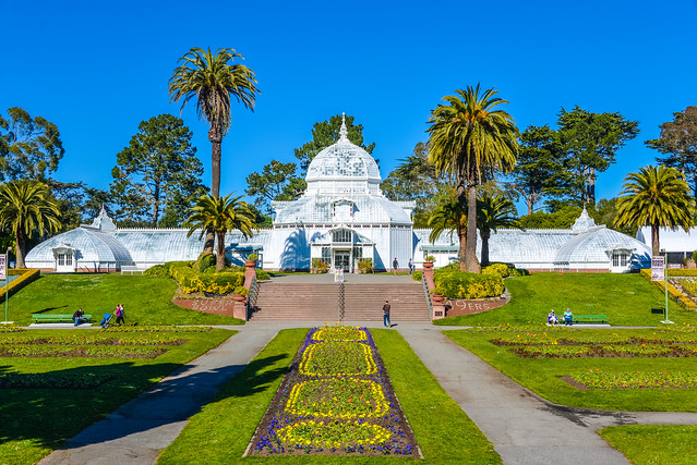 The Conservatory of Flowers in Golden Gate Park San Francisco CA