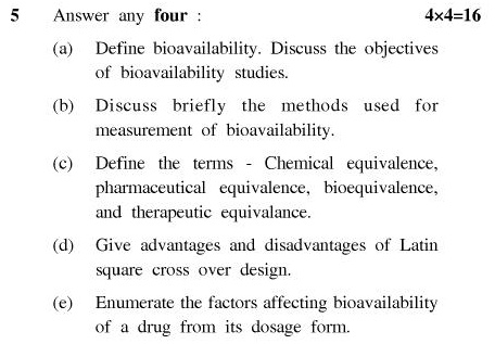 UPTU B.Pharm Question Papers PH-362 - Biopharmaceutics & P'Kinetics (Pharmaceutics-VIII)