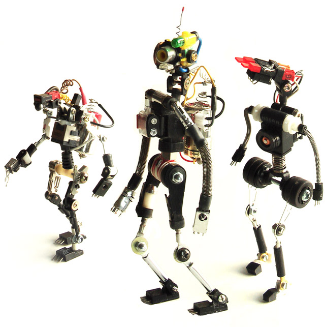 roboter skulpturenaus metal