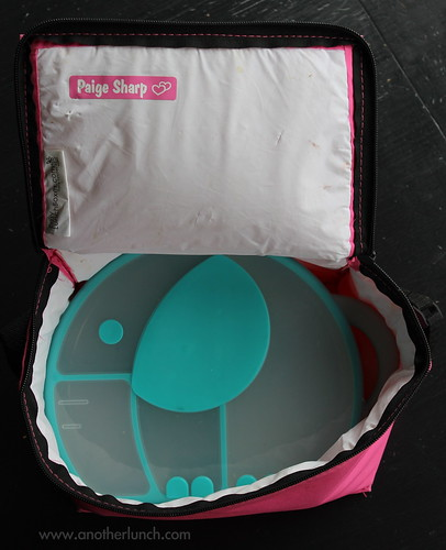Boon elephant snack box in an EasyLunchboxes cooler bag