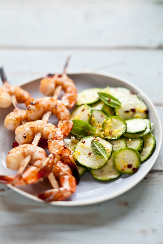 Blood Orange Marinated Shrimp Skewers