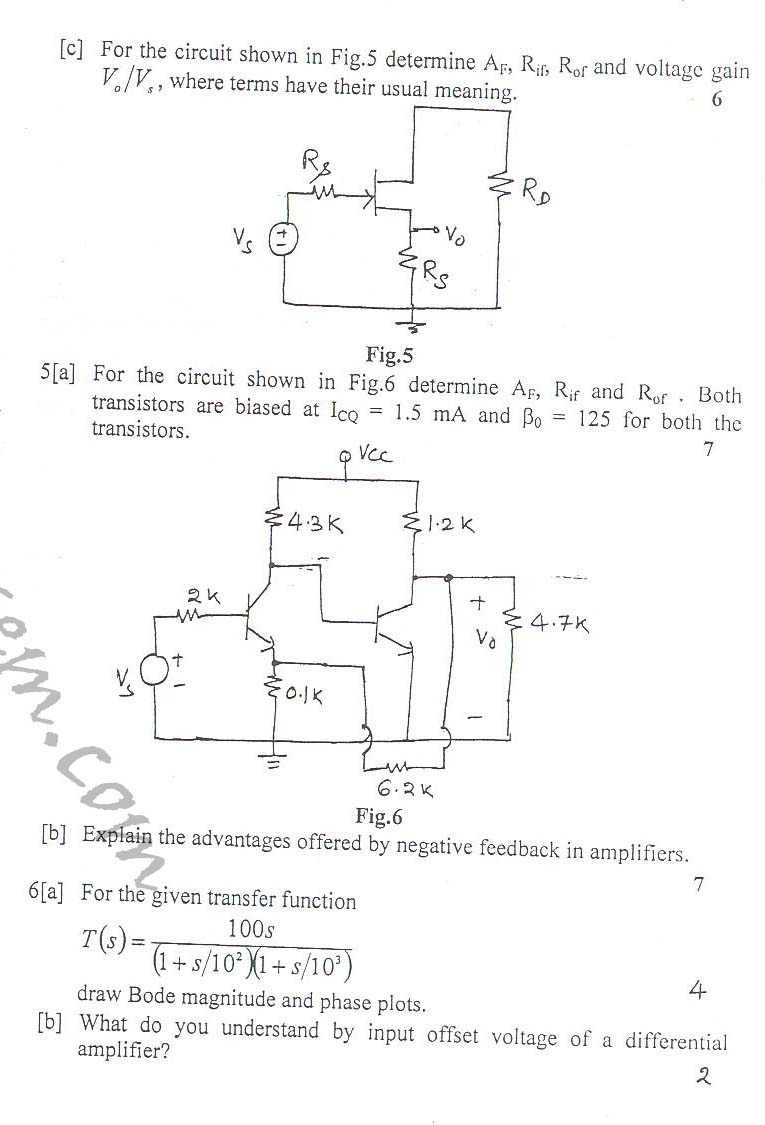 NSIT: Question Papers 2010 – 2 Semester - End Sem - COE-EC-EE-IC-211