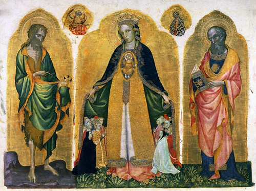 Jacobello del Fiore (1370 - 1439) - Triptych of the Madonna della Misericordia 4b - terminartors by petrus.agricola