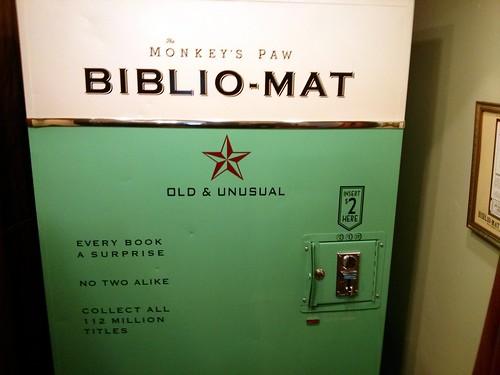 Bibliomat 2, Monkey's Paw books, Dundas Street W, Toronto, ON, Canada