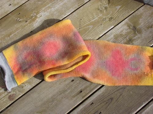 """dyed """"snake"""" sock blank"""