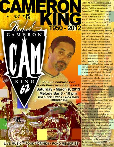 Cameron King memorial