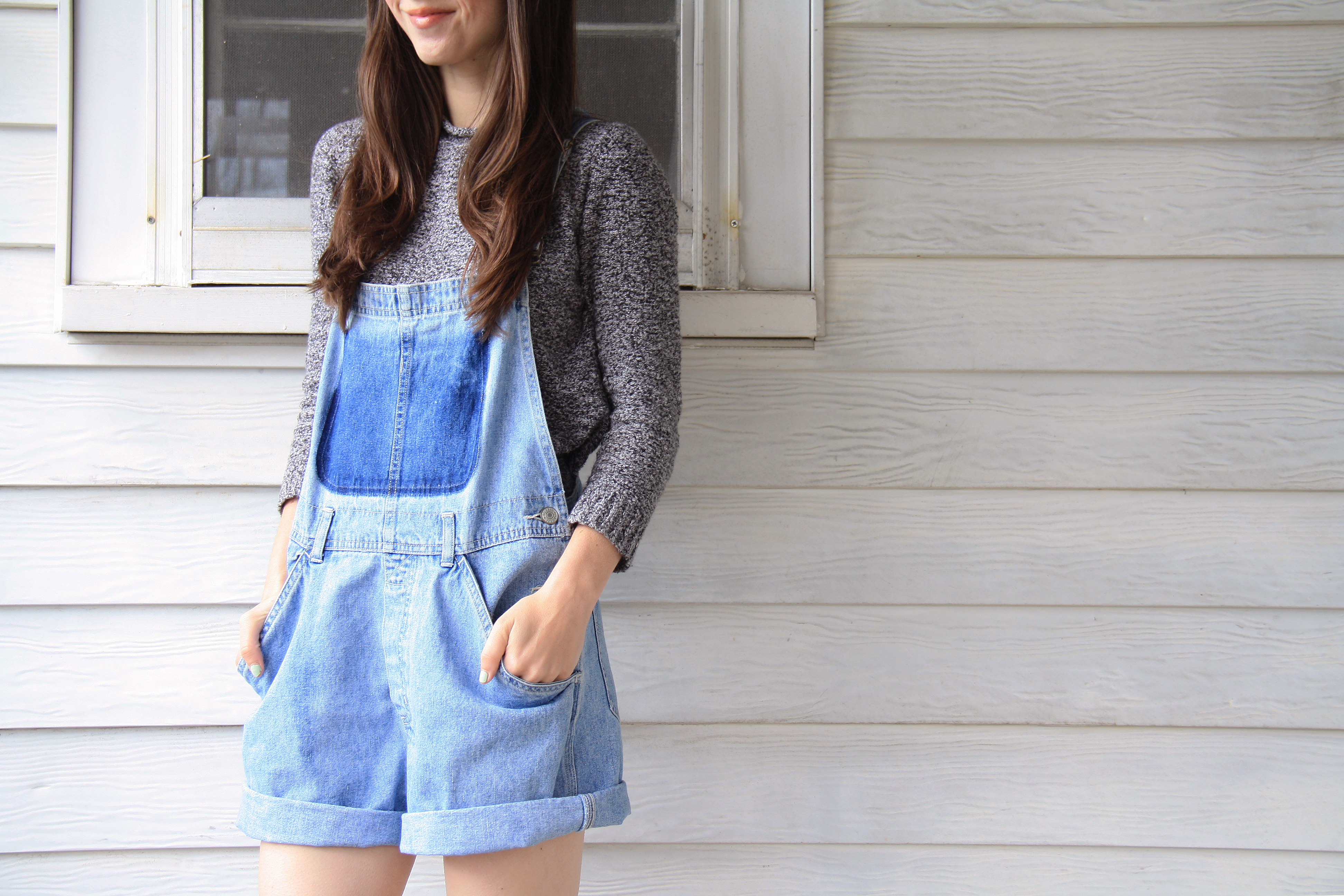 bleached denim overall DIY