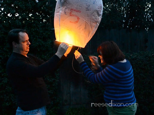 Lighting the Birthday Lantern