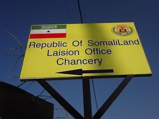 Placa da embaixada da Somalilandia