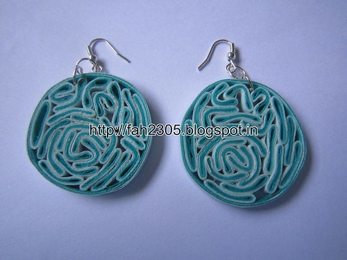Handmade Jewelry - Paper Quilling Disk Earrings (Bacteria Style) (5) by fah2305