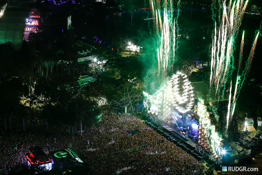 Ultra Music Festival 2013 from above