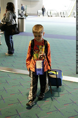 sequoia, finding gate c13 all by himself    MG 3668