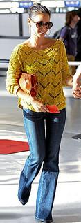 Olivia Munn Flared Jeans Celebrity Style Women's Fashion