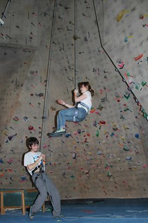 Climbing Center employee is racing toward them